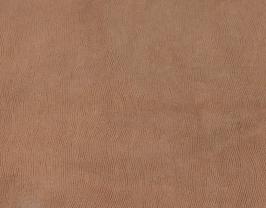 Morceau de cuir de vachette marron imprimé lézard