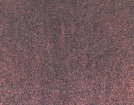 Morceau de cuir de vachette grainé aubergine