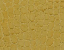 Coupon de cuir de vachette moutarde imprimé crocodile