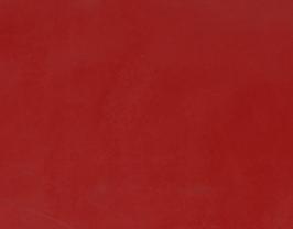 Morceau de cuir de vachette rouge