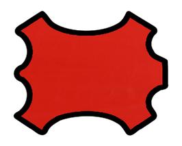 Peau d'agneau nappa rouge