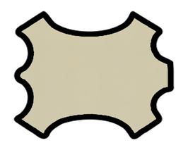 Peau d'agneau nappa ivoire