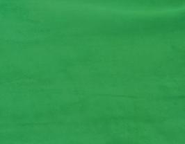 Morceau de cuir d'agneau velours vert gazon