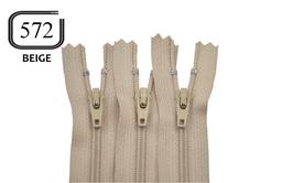 Fermeture éclair YKK beige en nylon non séparable