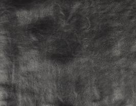 Morceau de cuir de vachette argent antique
