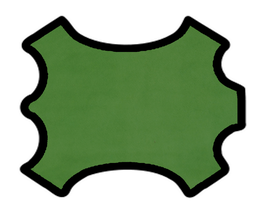 Peau d'agneau velours vert clair