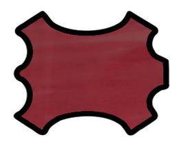 Peau de veau rouge framboise