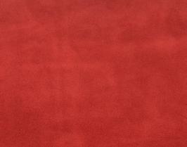 Coupon de cuir de veau velours rouge pourpre