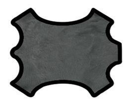 Coupon d'agneau lainé double face gris et noir