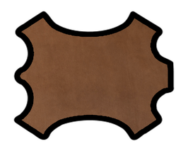 Demi peau de vachette nubuck chocolat imprimé requin