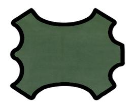 Peau d'agneau velours vert kaki