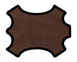 Demi peau de vachette marron foncé imprimée serpent