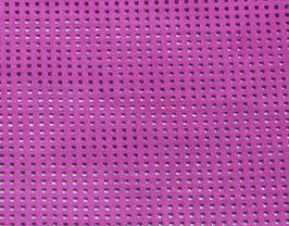 Morceau de cuir de vachette nubuck perforé rose fuchsia