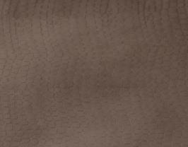 Morceau de cuir de vachette taupe imprimé crocodile