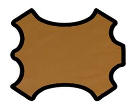 Demi peau de vachette biscotte