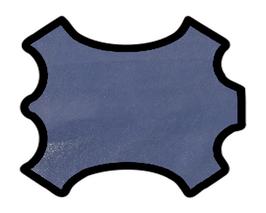 Peau d'agneau velours bleu roi brillant