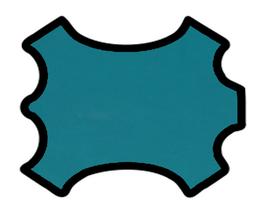Peau de chèvre chagrin turquoise foncé