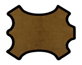 Peau d'agneau marron vintage