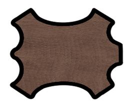 Demi peau de vachette marron clair imprimée crocodile