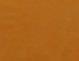 Morceau de cuir de vachette nubuck camel orangé