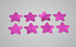 8 étoiles en cuir d'agneau rose métallisé