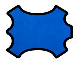 Peau d'agneau velours bleu saphir
