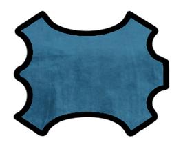 Peau de veau velours cachemire bleu pétrole
