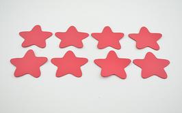 8 étoiles en cuir d'agneau rose