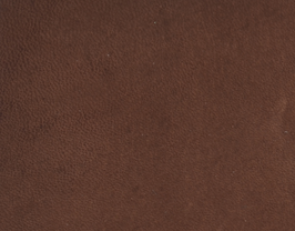 Coupon de cuir de vachette nubuck chocolat