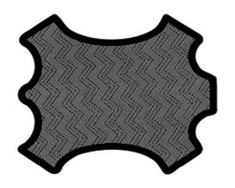 Peau d'agneau gris imprimé vague cristal noir