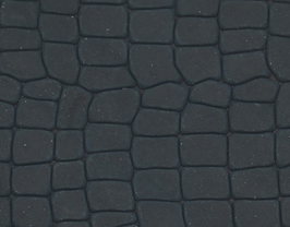 Coupon de cuir de vachette gris anthracite imprimé crocodile