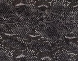 Morceau de cuir de chèvre gris imprimé python