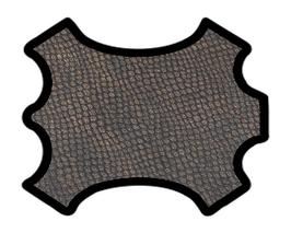 Peau de chèvre marron métallisé imprimé python