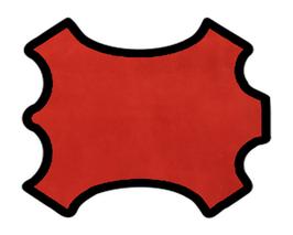 Peau d'agneau velours rouge