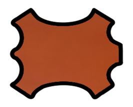 Demi croupon de vachette caramel cuir tannage végétal