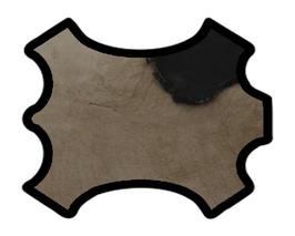 Peau d'agneau lainé double face beige et noir
