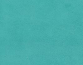 Coupon de cuir d'agneau velours bleu turquoise