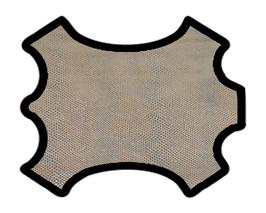 Peau d'agneau nude imprimé serpent argenté