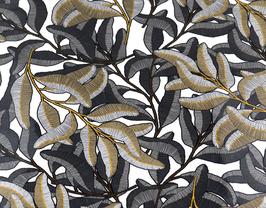 Coupon de cuir de vachette vernis imprimé fleurs