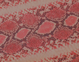 Morceau de cuir de vachette rose imprimé python