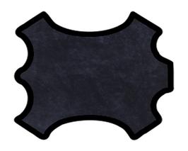 Peau d'agneau lainé bleu nuit
