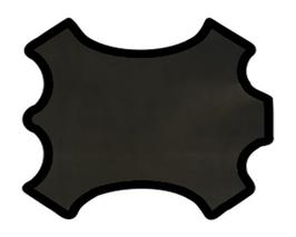 Peau d'agneau nappa noir reflets dorés