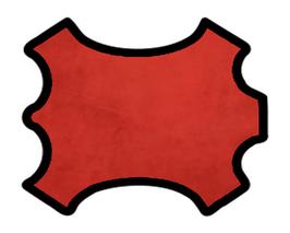 Peau de veau velours rouge