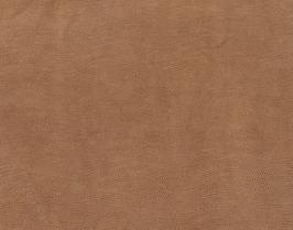 Morceau de cuir de veau nubuck tabac imprimé lézard