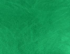 Coupon de cuir d'agneau nappa vert métallisé
