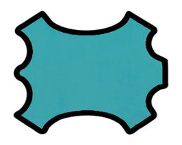 Peau d'agneau velours turquoise