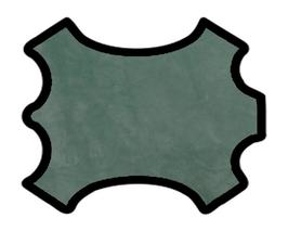 Peau de veau velours vert