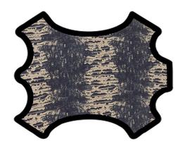 Peau de chèvre grise et beige saumoné imprimée python