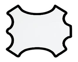 Demi peau de vachette perforée blanche
