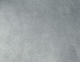 Coupon de cuir d'agneau nappa argenté